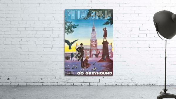 Greyhound Bus Travel Poster for Philadelphia