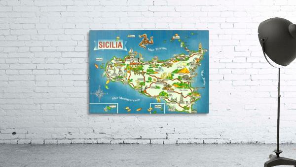 Daniele Pennisi vintage poster for Sicilia