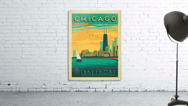 Chicago Lakefront travel poster