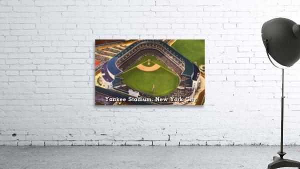 Vintage Yankee Stadium Postcard Art