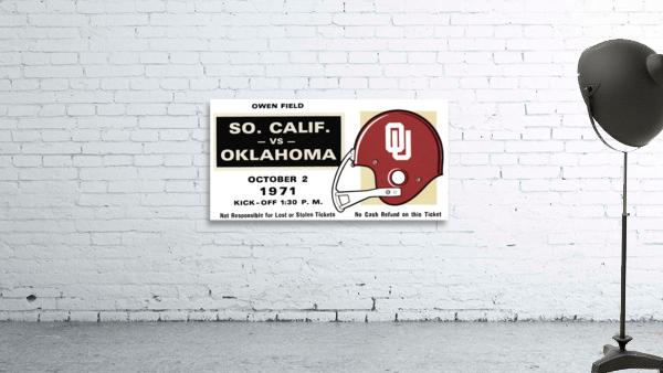 1971 USC vs. Oklahoma Football Ticket Stub Remix Art
