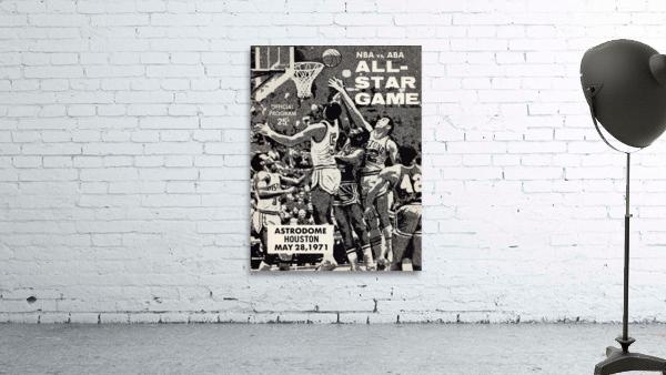 1971 NBA vs. ABA All-Star Game Program Art