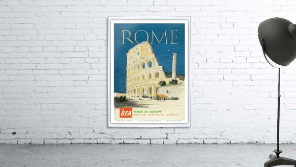British European Airways travel poster for Rome