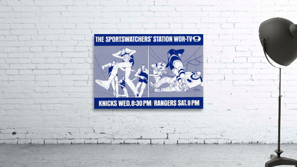 1967 New York Knicks and Rangers WOR TV9 Ad