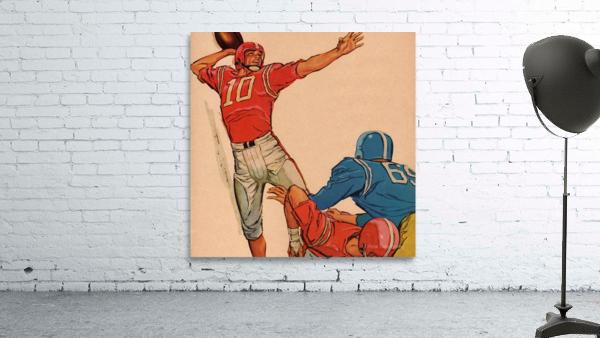 1959 Vintage Football Quarterback Art