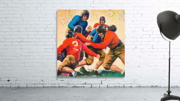 1937 Vintage Football Art