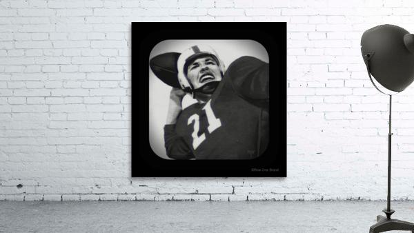 1954 Vintage Television Set Football Quarterback Art