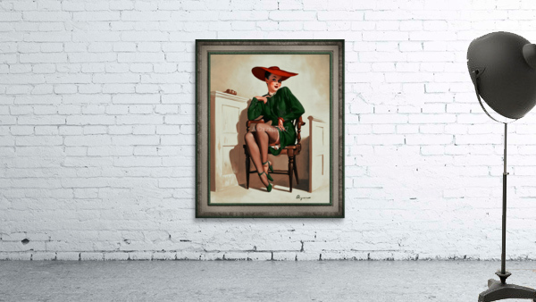 The Verdict Was by Gil Elvgren Vintage Pinup Illustration Xzendor7 Old Masters Reproductions