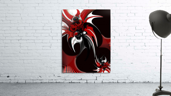 Red & Black Formation Print