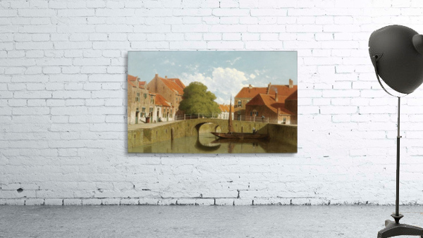 Along the canal in a Dutch town