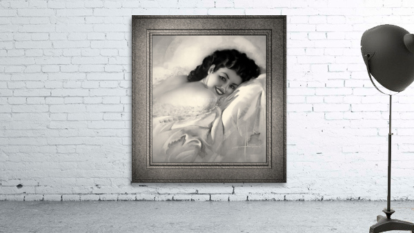 Sweet Dreams by Rolf Armstrong Vintage Illustration Xzendor7 Art Reproductions BW