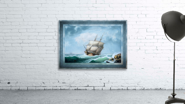 Brig Off the Maine Coast by Fitz Hugh Lane Classical Marine Fine Art Xzendor7 Old Masters Reproductions
