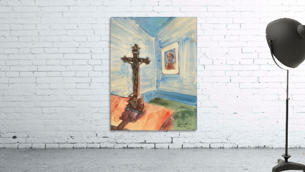 Crucifix in the room by Walter Gramatte