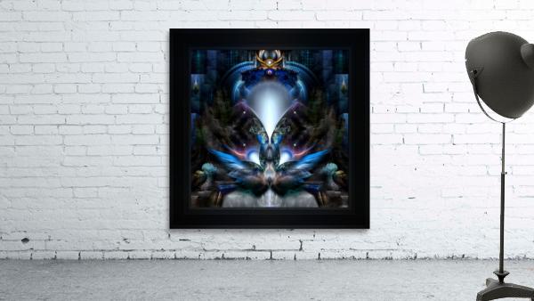 Herald The Light Fractal Wings Digital Art by Xzendor7