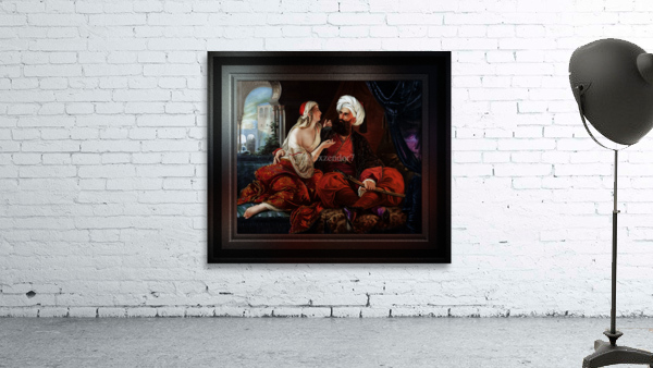 Ali Pasha and Kira Vassiliki by Paul Emil Jacobs Classical Fine Art Xzendor7 Old Masters Reproductions