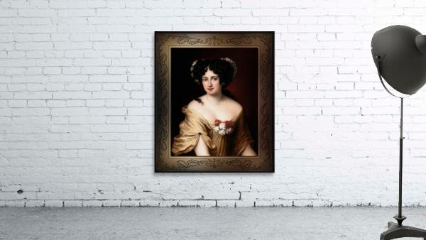 Portrait of Contessa Ortensia Ianna Stella by Jacob Ferdinand Voet Classical Fine Art Xzendor7 Old Masters Reproductions