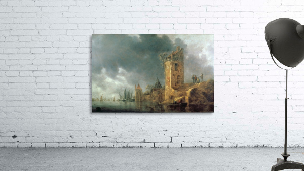River Scene with Ruined Tower
