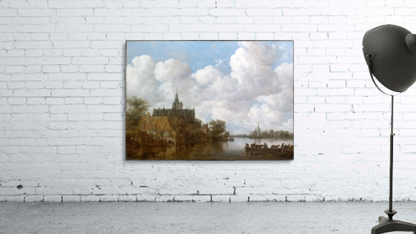 Landscape with a Ferry and a Church