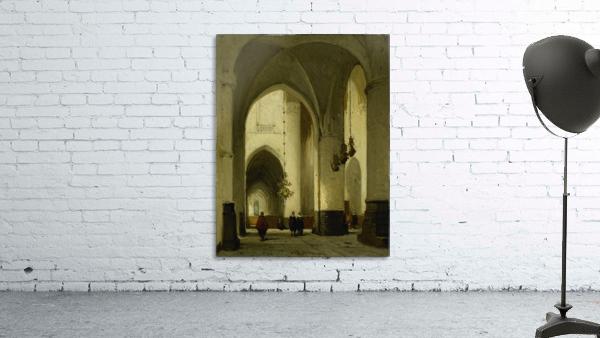 Interieur van de Grote of Sint Bavokerk te Haarlem