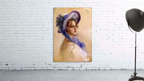 Youbg lady with purple hat