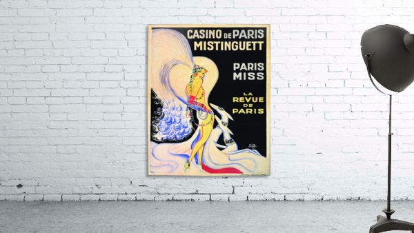 Casino De Paris Mistenguett vintage poster