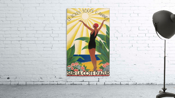 Sun All Year On the Cote dAzur poster in 1931