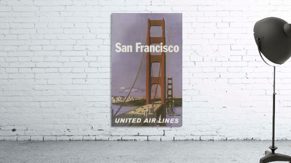 United Airlines Poster for San Francisco