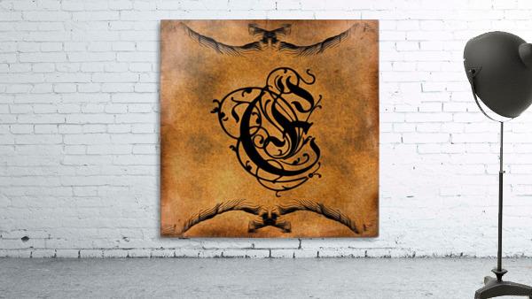 Beautiful Monogram Letter E