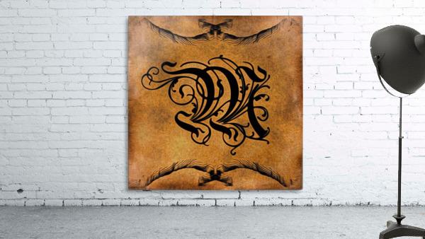 Beautiful Monogram Letter M
