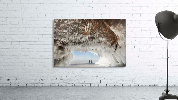Ice caves on Lake Superior, near Bayfield; Michigan, United States of America