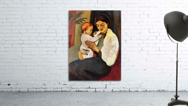 Mother and Child by August Macke