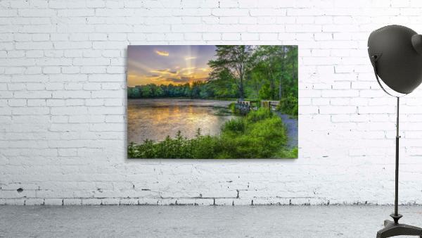 Lakeside sunset; Bushkill, Pennsylvania, United States of America