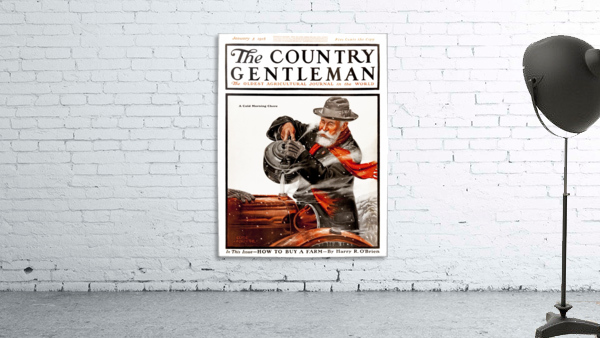 Cover of Country Gentleman agricultural magazine from the early 20th century. .