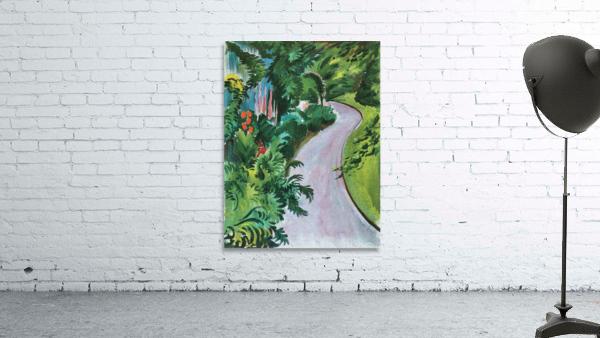 Path in the garden by August Macke