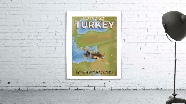 Turkey vintage travel poster
