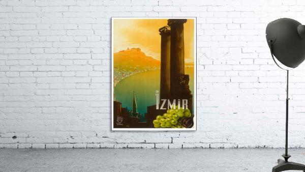Turkey Izmir vintage travel poster