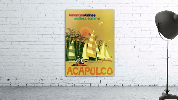 American Airlines endless summer Acapulco poster