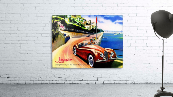 Jaguar Advertising Vintage Poster