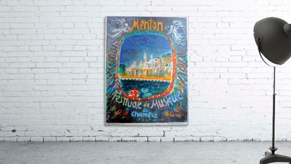 Menton Festival de Musique original advertising poster