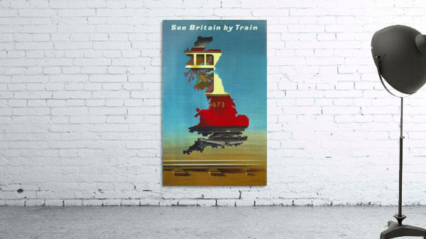 See Britain by Train, 1951 vintage poster