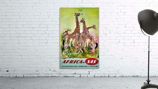 Scandinavian Airlines Africa by SAS original advertising poster