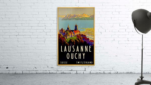 Lausanne Switzerland Travel Poster