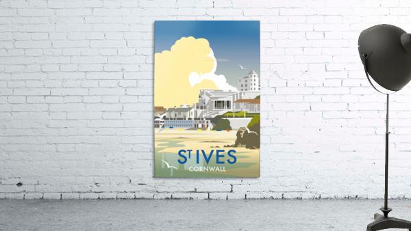 Saint Ives Cornwall vintage travel poster
