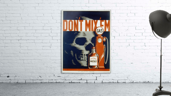 Dont mixem vintage poster