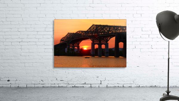 Champlain Bridge sunset