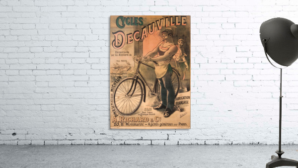 Cycles DeCauville vintage poster