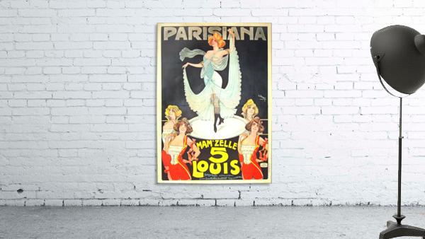 Parisiana Mamzelle Louis V vintage poster