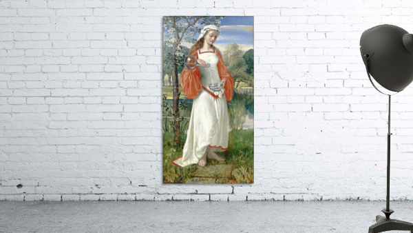 Allegorical Maiden in white dress