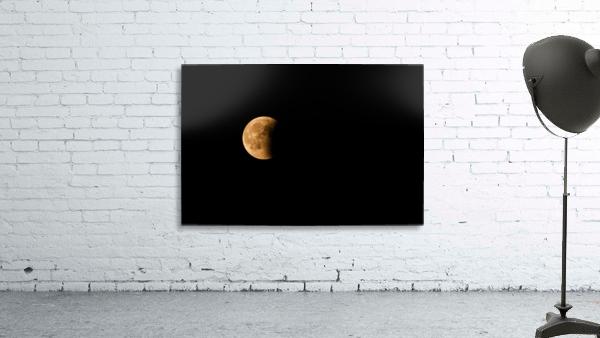 Moon, total Lunar eclipse as seen