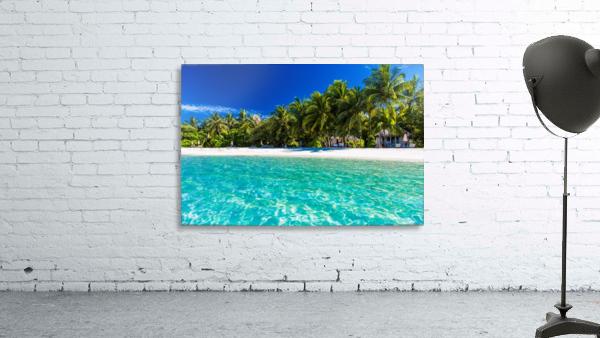 Amazing beach in Maldives, summer travel